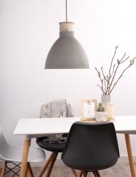 lampara de techo estilo cemento-7889GR