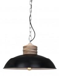 lampara de techo estilo industrial negra-7974ZW