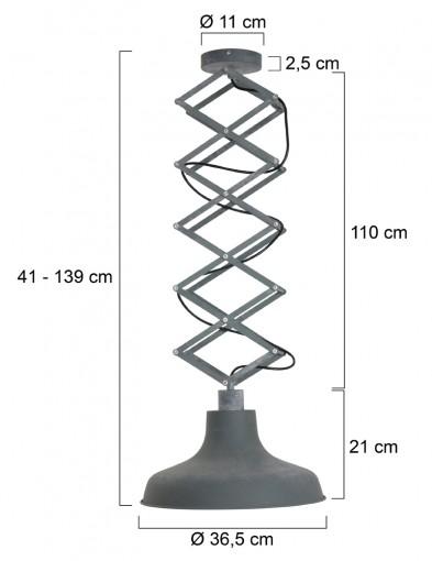 lampara-de-techo-extensible-flex-7654GR-3
