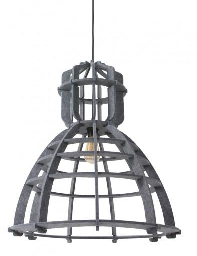lampara de techo fieltro gris-8887GR
