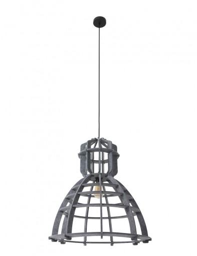 lampara-de-techo-fieltro-gris-8887GR-8
