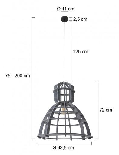 lampara-de-techo-fieltro-gris-8887GR-9