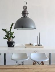 lampara de techo gris-7586GR