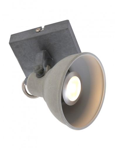 lampara de techo gris antracila industrial ajustable-1241GR