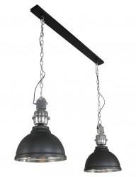 lampara de techo industrial 2 luces-7981ZW