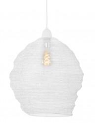 lampara-de-techo-malla-metalica-en-blanco-1377W-1