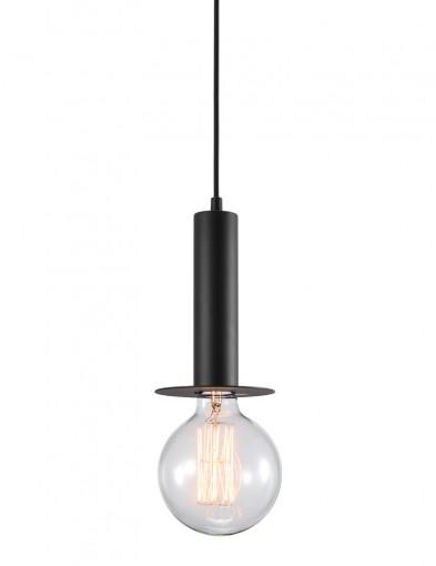 lampara de techo metal negro-2174ZW