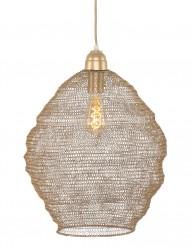 lampara de techo metalica dorada-1377BR
