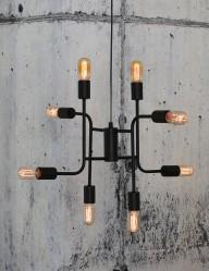 lampara de techo negra-2015ZW