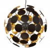 lampara de techo negra y dorada-1604ZW