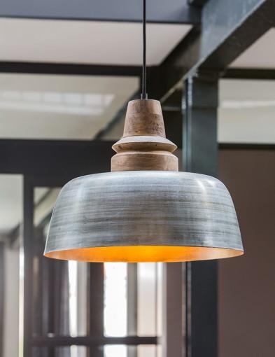 lampara de techo plateada-2001ZI