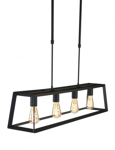 lampara de techo rectangular negra para cocina-1705ZW