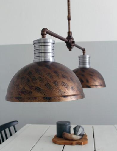 lampara doble de techo-7671B
