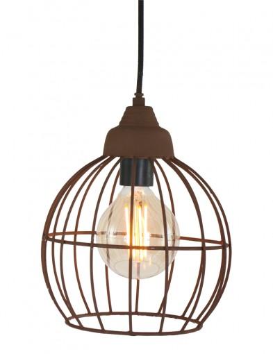 lampara en suspension efecto oxido-8933B