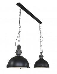 lampara industrial negra bikkel duo-7979ZW