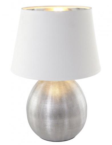 lampara jarron plateada-1635ZI