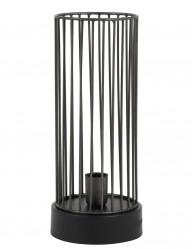 lampara jaula alargada negra-1959ZW