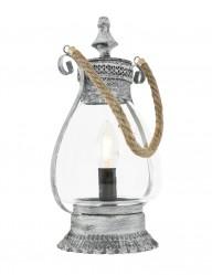 lampara linterna plateada-1063GR