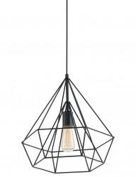 lampara marco negro de alambre-7597ZW