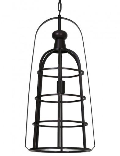 lampara negra con forma de farol-2017ZW