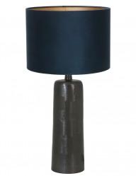 lampara negra con pantalla azul papey-9195ZW