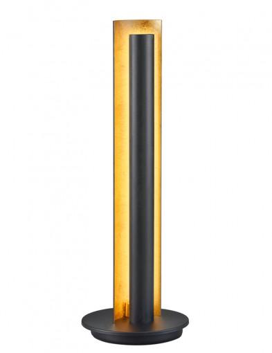 lampara negra de interior dorando-1824ZW