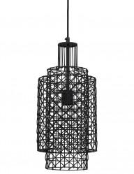 lampara negra trenzada-1737ZW
