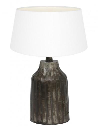 lampara rústica pantalla blanca-9282ZW