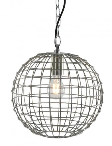 lampara redonda de alambre y acero-1590ST