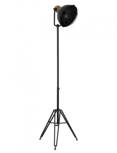lampara tripode con detalles en madera-1914ZW