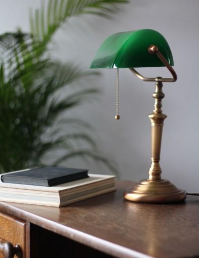 lampara tulipa verde-6185BR