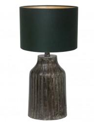 lampara verde con pie gris tomi-9290ZW