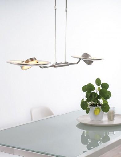moderna lampara colgante de dos luces-7861ST