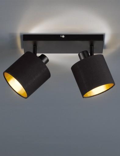 plafon-con-dos-luces-negro-1653ZW-1