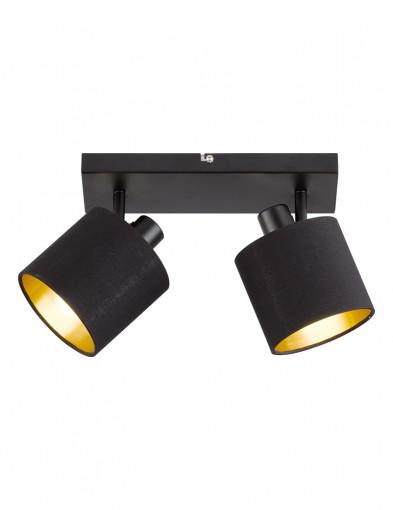 plafon con dos luces negro-1653ZW