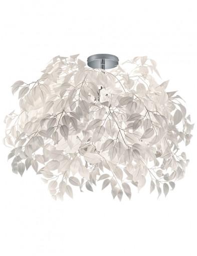 plafon con hojas blancas-1828CH