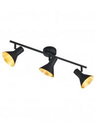 plafon de tres luces con interior dorado-1835ZW