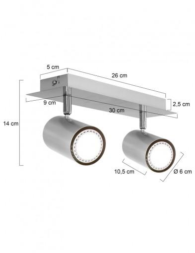 plafon-dos-focos-metalizado-1076ST-7