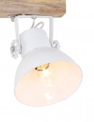 plafon-dos-luces-blanco-y-madera-1379W-1