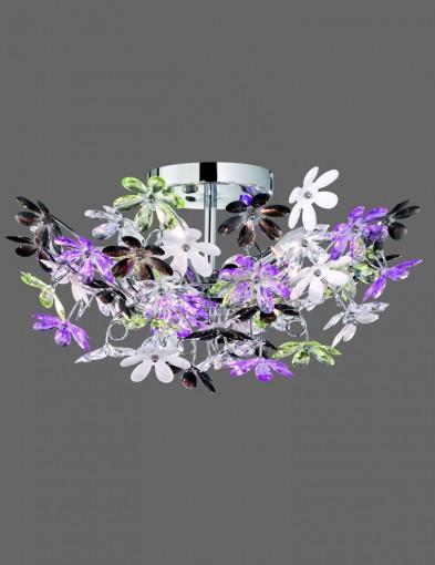 plafon grande con flores blancas y moradas-1830CH