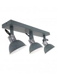 plafon gris tres luces estilo industrial-2134GR