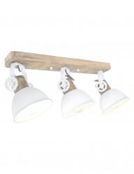 plafon industrial blanco de tres luces-2133W
