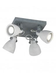plafon industrial de cuatro luces-1816GR