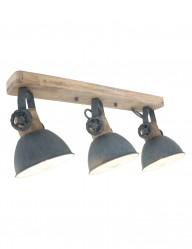 plafon industrial gris de tres luces-2133GR