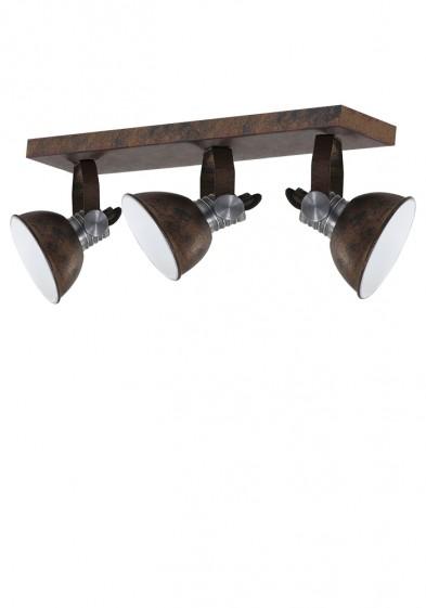 plafon industrial marron tres luces-2134B