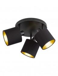 plafon moderno con tres luces en negro-1654ZW