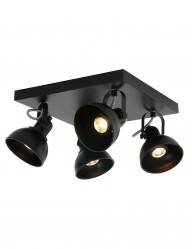 plafon negro cuatro focos-1245ZW