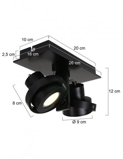 plafon-negro-dos-focos-7550ZW-4