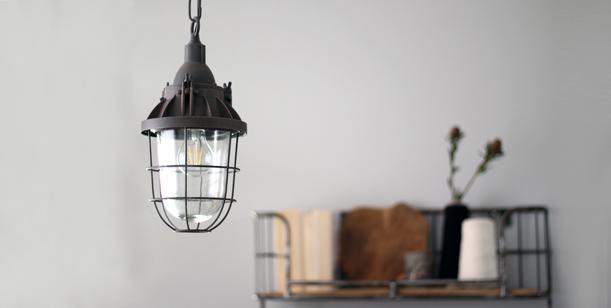 Lámparas-de-jaula-marrón