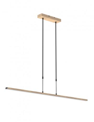 Lámpara colgante de madera Steinhauer Zelena-1482BE